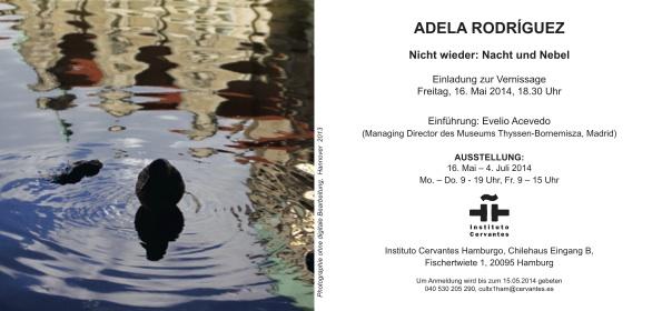 Adela Rodriguez-invitacion exposicion Hamburgo