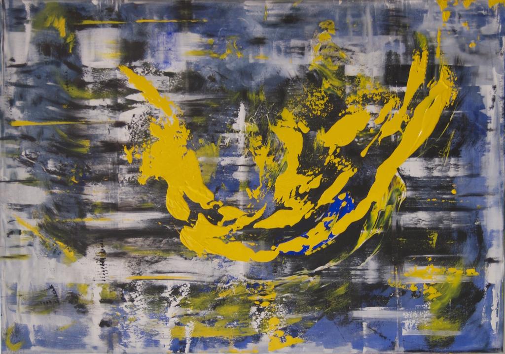 """Columpio"" 80 x 100. Acrílico sobre lienzo.Vigo 2015"