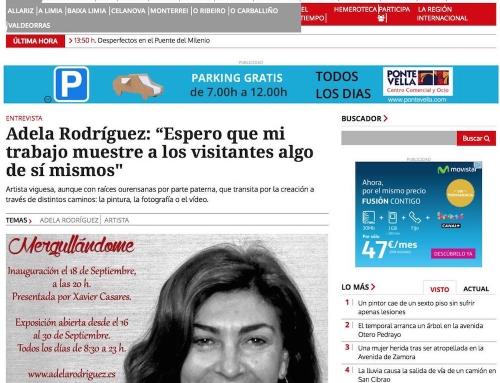 Entrevista diario La Región Ourense