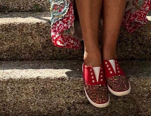 Hortensias en los pies